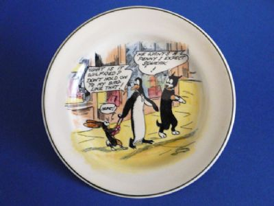 Rare Royal Doulton Daily Mirror 'Pip, Squeak and Wilfred' Child's Plate c1932